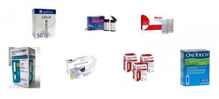 Тест полоски к глюкометрам