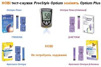 Увеличить фото новых тест-полосок FreeStyle Optium